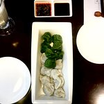bicolour dumplings