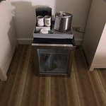 Fridge as put on floor so that you had to actually sit on the floor to make coffee.
