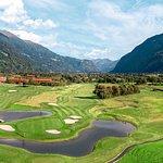 Panoramaausblick Golfplatz Dolomitengolf