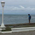 Malecon on one of the public beaches in La Ceiba