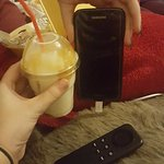 A milkshake the same size as my phone for £3.50!
