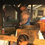 The Old Mill is a must-see. While you're there, stop by to see this guy making popcorn. This is