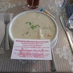 The fabulous fish chowder. No skimping on this serving!