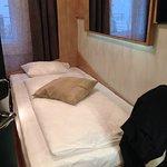 Bett klein, aber die Matratze war gut