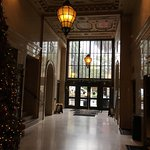 The 1924 office building has been beautifully adapted as a hotel. The lobby feels intimate. The
