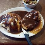 Chicken Fried Steak with Mashed Potatoes & Green Beans... (Choice of Gravy)