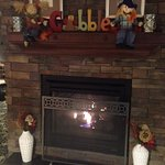 Fireplace welcoming when you arrive!