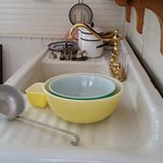 The kettle was for boiling salt water to make salt. 50's bowls in the house at the Cedar Key Sta