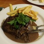 This was amazing! Nice juicy steak served with a mushroom sauce and Mashed Potatoes.. Mmmm DELIC