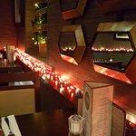 restaurant in Christmas mode