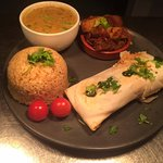 Thai Green Salmon Wellington & Bombay Aloo