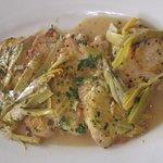 Chicken piccata with artichokes