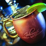 Try a Johnny's Moscow Mule - for a bit more you can keep the mug.