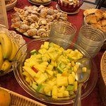 Lots of fruits and sweets