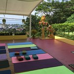 Yoga space on top floor with views and breeze