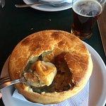 Chicken pot pie & Truffle Baileys dessert