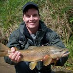 Dry fly caught Mataura Brown.