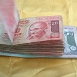 This is the money that was stolen within one hour of my arrival to the Raj Lodge.Taken one day b