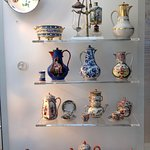 Porcelain Display Case (upper middle is a coffee maker)