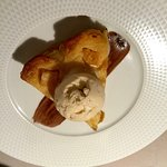 Caramelized Apple tart with vanilla ice cream
