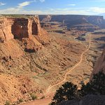 View of Shafer trail