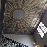 Trompe l'oeil ceiling in the main stairwell.