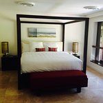 Our comfy bed in the Villa