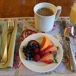 Breakfast, first course: fresh fruit