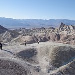 Looking into Death Valley from the Badlands