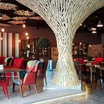 A colorful and cozy atmosphere for a business lunch or a dinner with friends.