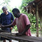 Wood carving with Apongo