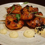 Delicious Gochujang King Prawn Skewers with yuja mayonnaise