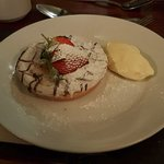 Bakewell Tart with Devon Cream