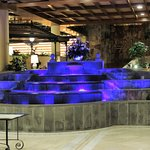 Water feature at reception