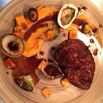 Braised Beef Shin, Bone Marrow, Butternut Squash, Charred Onion & Port Jus