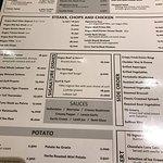 one page menu