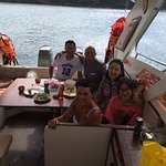 Having Lunch on the boat