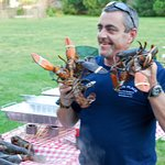 Have a lobster bake on the South Porch