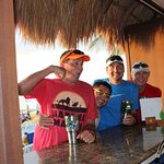 Isidro (in yellow glasses) Awesome Beach Bartender