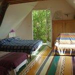 Voici la chambre familiale, avec jardin et terrasse privés sans vis-à-vis.