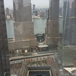 View of Ground Zero from our room on 44th floor,