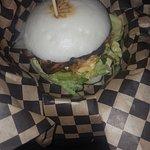 Confit pork burger/bun
