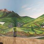 Mural in the bathroom