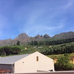 Helderberg mountain, view from table, Starter, Amuse Bouche
