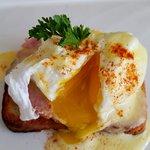 choice of soft or medium poached egg (medium)