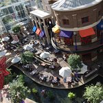 The view onto the Riverwalk Cantina from our room
