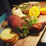 Delicious duck supper. One of our great specials