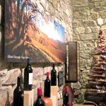 Tasting Room and Wood Christmas Tree, Hess Collection Winery & Art Museum, Napa, Ca