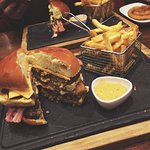 The warrior burger, can you eat it all?!