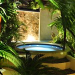One of our jacuzzis at night
